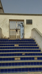 Steps leading to Al-Fath Mosque.